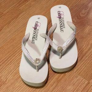 Swarovski Crystal Platform Sandals